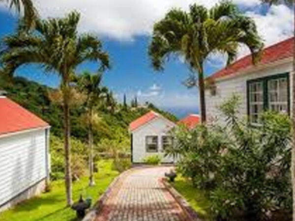 Windwardside in Island of Saba Netherland Antilles